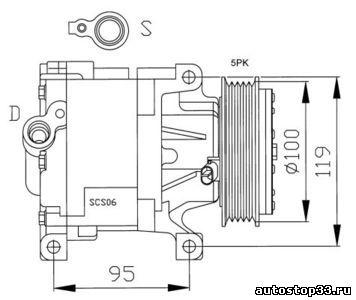 Компрессор кондиционера Fiat Albea 51747318