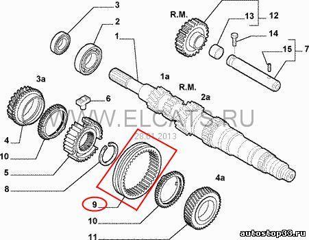 Муфта 3-4 передачи КПП Fiat Albea 55200961