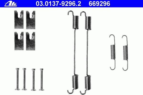 77363945 Ремкомплект задних тормозных колодок Fiat Albea