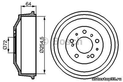 Барабан тормозной задний Fiat Ducato 1313675080