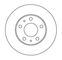 Диск тормозной передний Fiat Ducato R16 71739637, 46806234