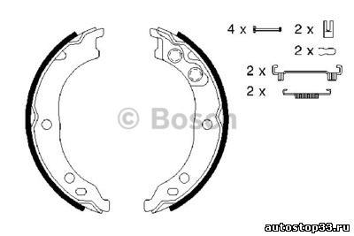 Колодки стояночного тормоза Fiat Ducato 77363479