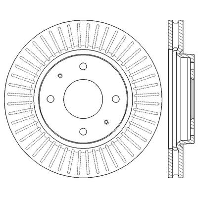 Диск тормозной передний Мицубиси Лансер 9 MR510741, MR510742, MR527825