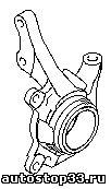 Кулак поворотный левый Мицубиси Лансер 9 MR491321