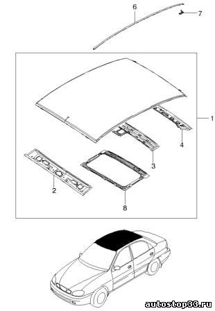 Крыша Chevrolet Lanos 96303816 фото