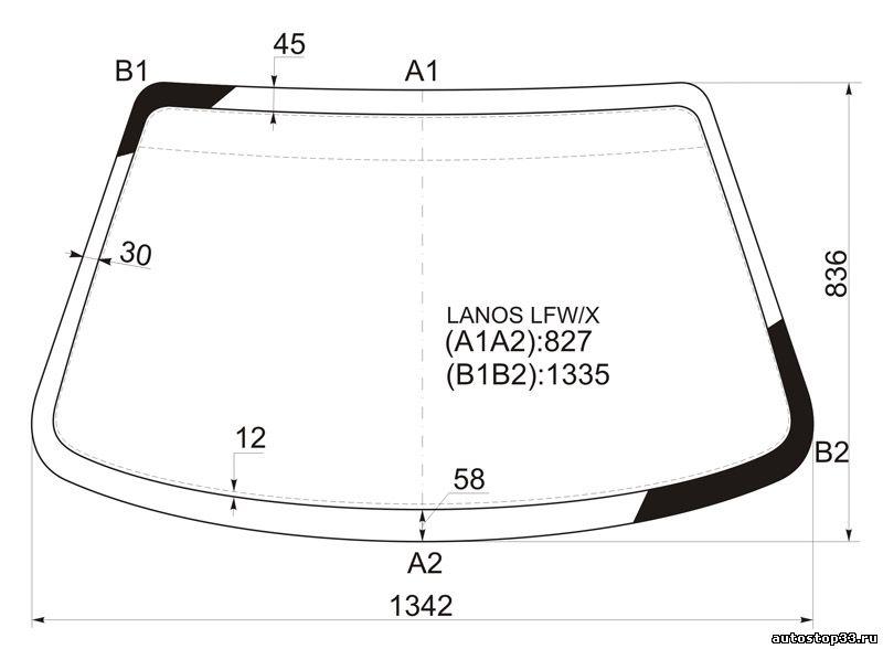 Лобовое стекло Chevrolet Lanos 96386596