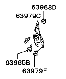 Подкрылок задний левый Мицубиси Лансер 9 MN161155, MN161159