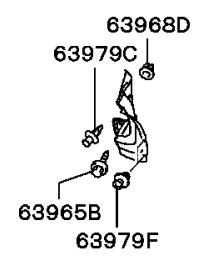 Подкрылок задний правый Мицубиси Лансер 9 MN161158, MN161160