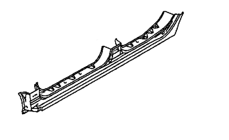 Порог левый Мицубиси Лансер 9 MN186619, MN186625